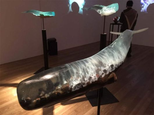 Translucent Whale Sculptures Symbolizes The Six Realms Of Buddhism