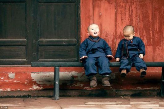 Cutest Young Baby Monks In Chinese Temple