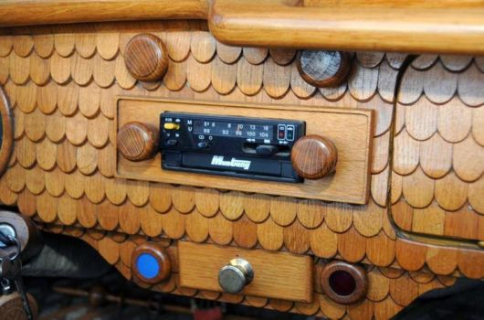 VW Fan Gives His Antique Beetle A Wooden Makeover