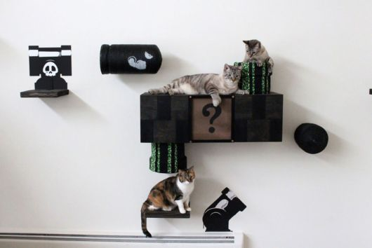 An Artist Turned His Room Into A Mario Cat World
