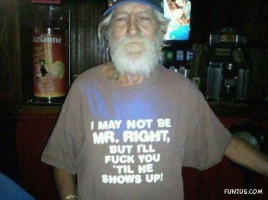 Old People Wearing Funny Shirts