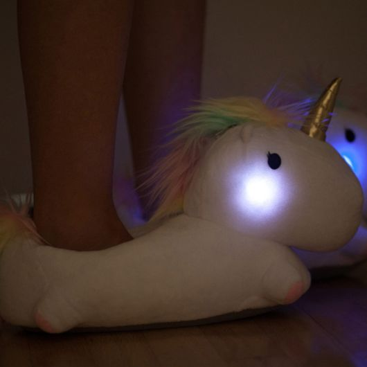 Pretty Unicorn Bedroom Slippers That Light Up When You Walk