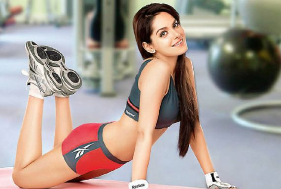 Shazahn Padamsee Shoots For Reebok