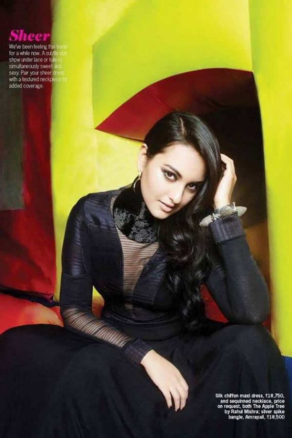 Pretty Sonakshi Sinha Does Cosmo