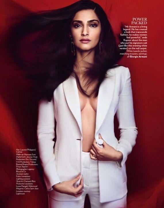 Sonam Kapoor on Vogue Magazine 2015