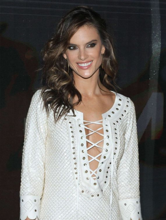 Alessandra Ambrosio At Opening Of Dzarm Store