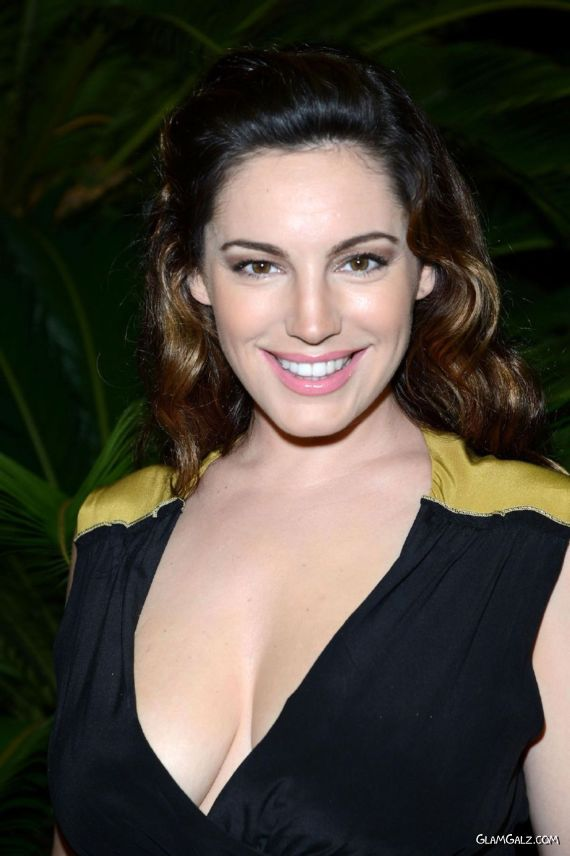 Kelly Brook At Delfini Restaurant, Italy