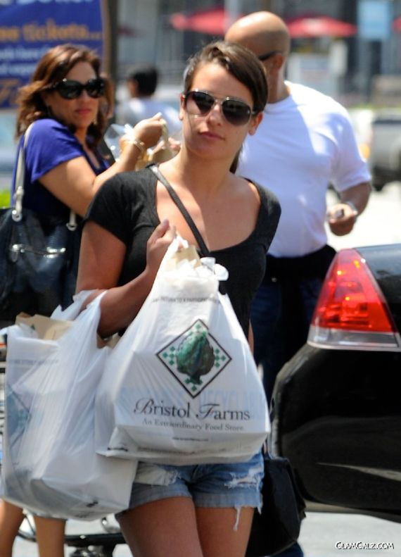 Lea Michele Shopping In West Hollywood