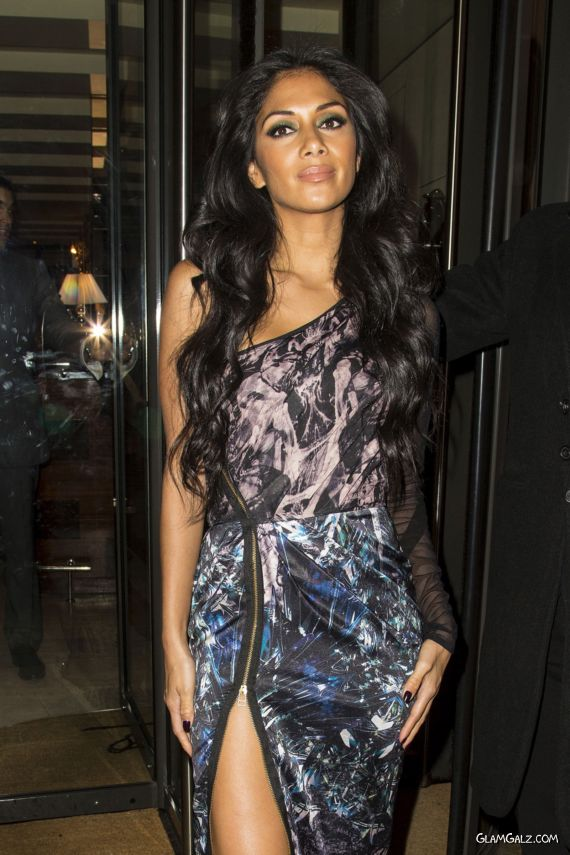 Nicole Scherzinger Arrives At A Party In London