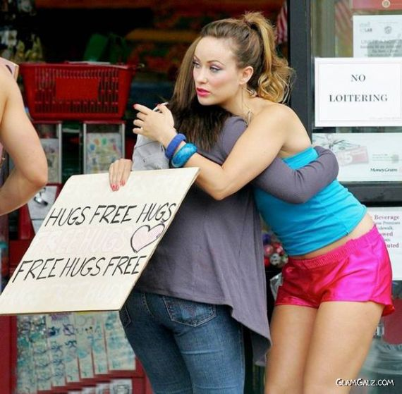 Free Hugs By Olivia Wilde
