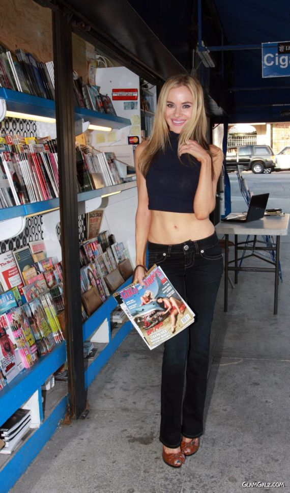 Gorgeous Paula Labaredas Buying Magazines