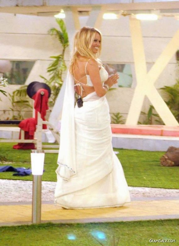 Gorgeous Pamela Anderson in Saree