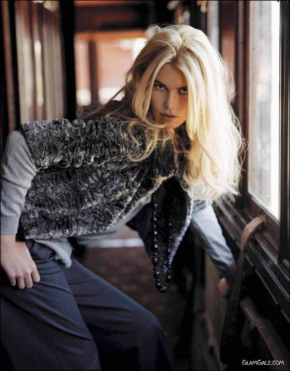 Claudia Schiffer For Exclusive Mango Shoot