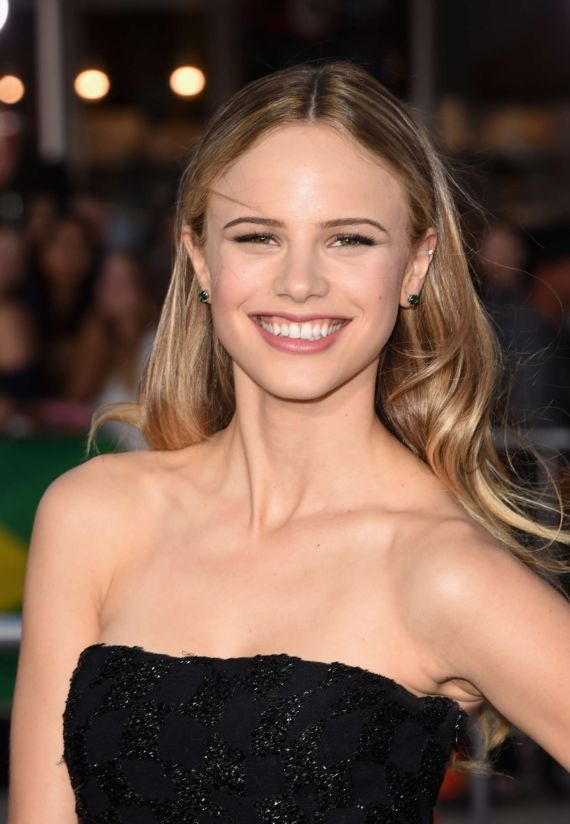 Halston Sage At The Neighbors Premiere