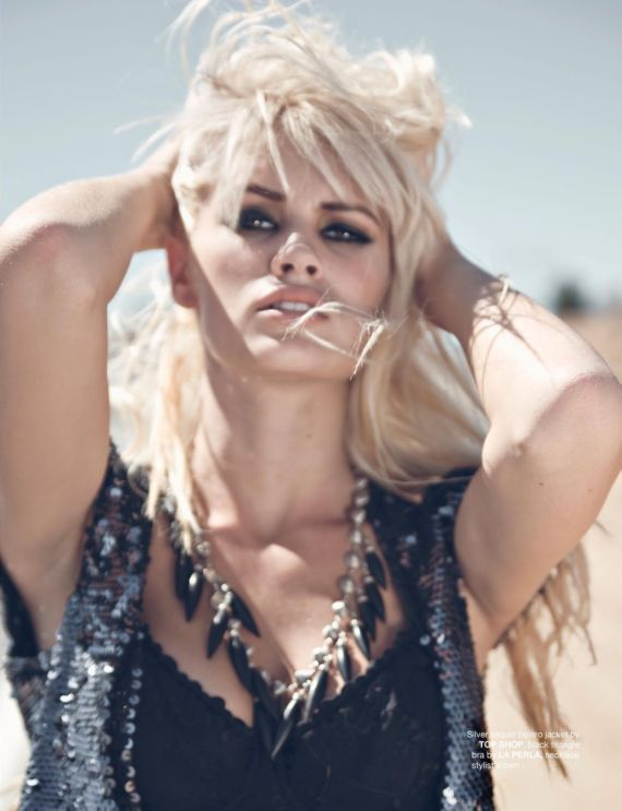 Lauren Bennett Posing For FV Magazine Shoot