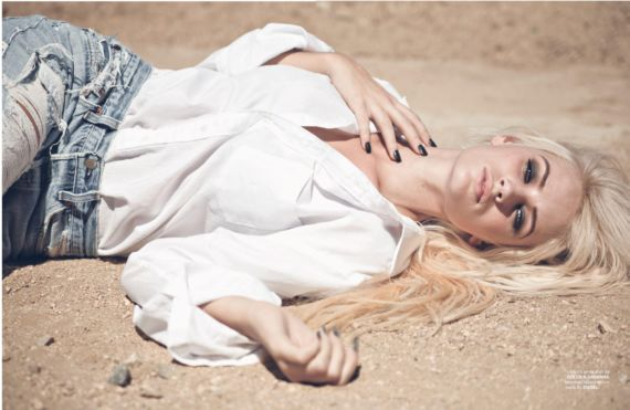 Lauren Bennett Posing For FV Magazine Shoot
