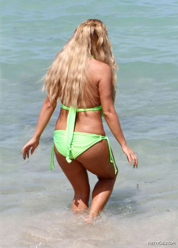 Aubrey O'Day In Bikini At The Beach