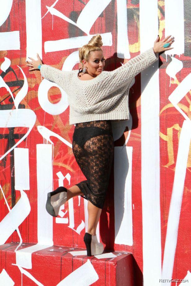Aubrey O'Day at Wynwood Walls in Florida