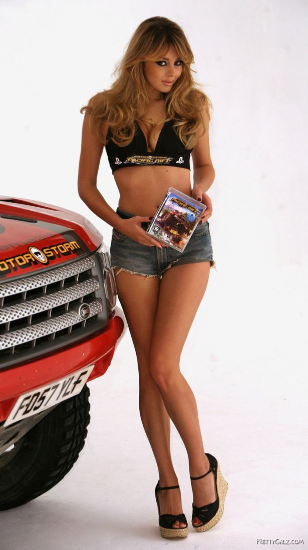 Keeley Hazel For MotorStorm Launch